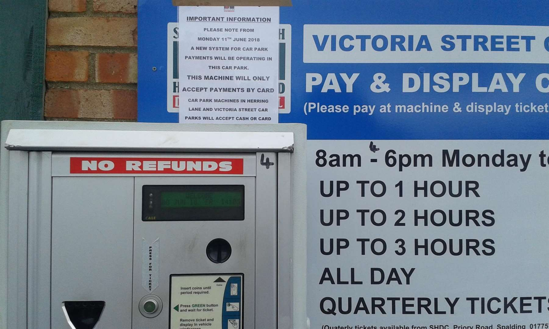 New card ticket machines will be introduced in South Holland District Council run carparks from Monday (June 11) (2450596)
