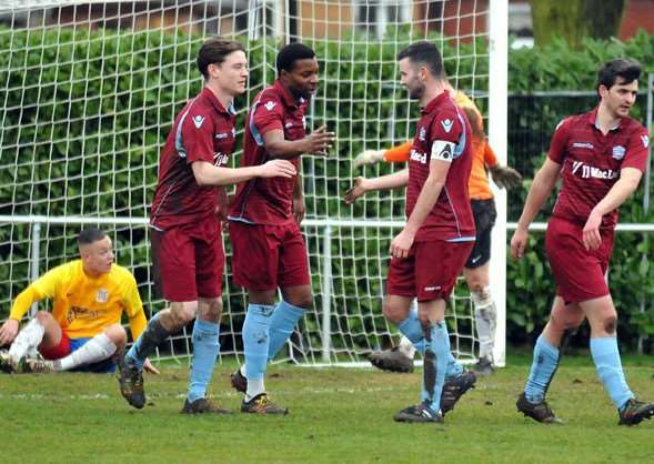 First-half celebrations for Bourne Town