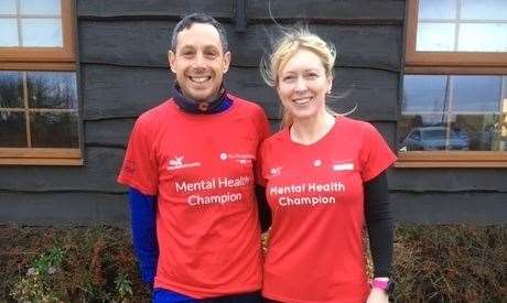 Gary Bligh and Sarah-Jane Macdonald are TCRC's #RunAndTalk Mental health Champions.Photo supplied.