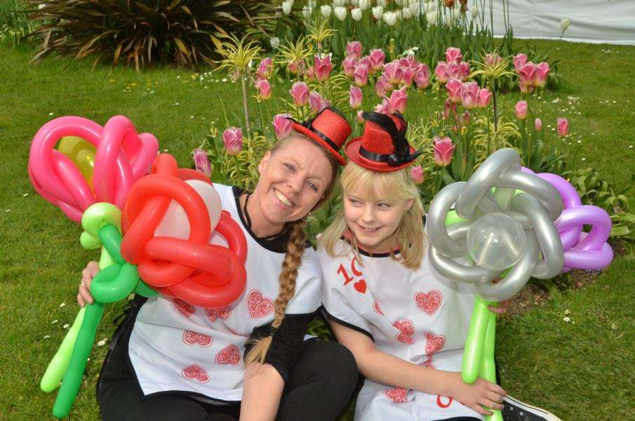 Melissa Reid and Molly Bracey at Tulipfest in Spalding last year. SG300417-168TW