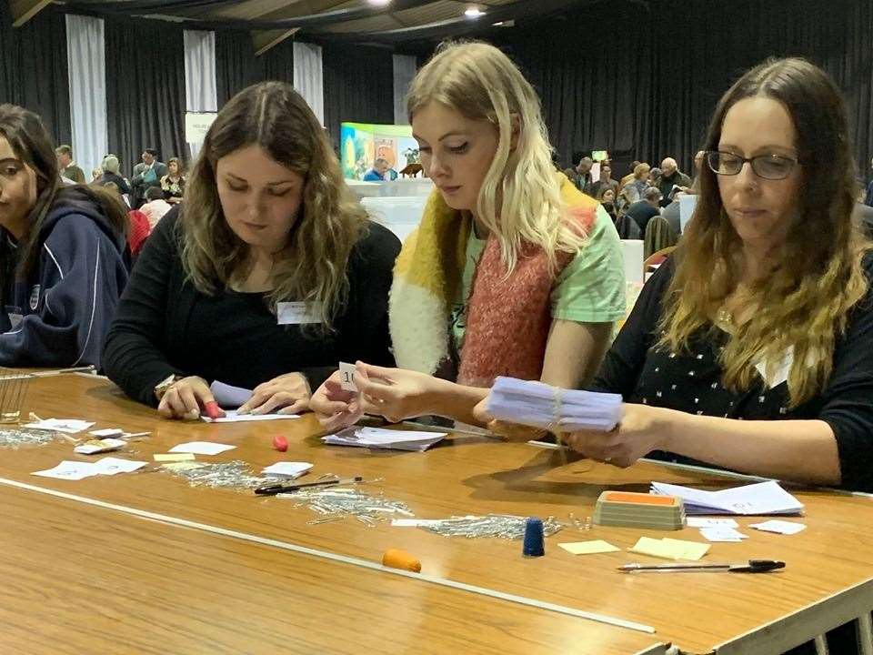 The count is on at the elections to South Holland District Council at Springfields Events and Conference Centre, Spalding. (9573678)