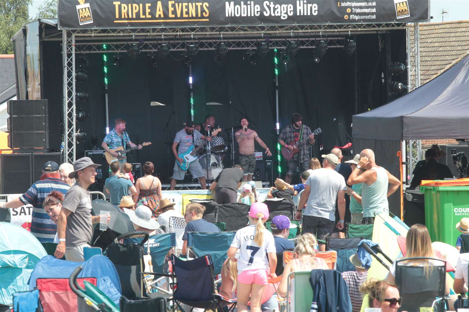 People enjoy the music at Iwade Rocks Festival. Picture by: John Westhrop