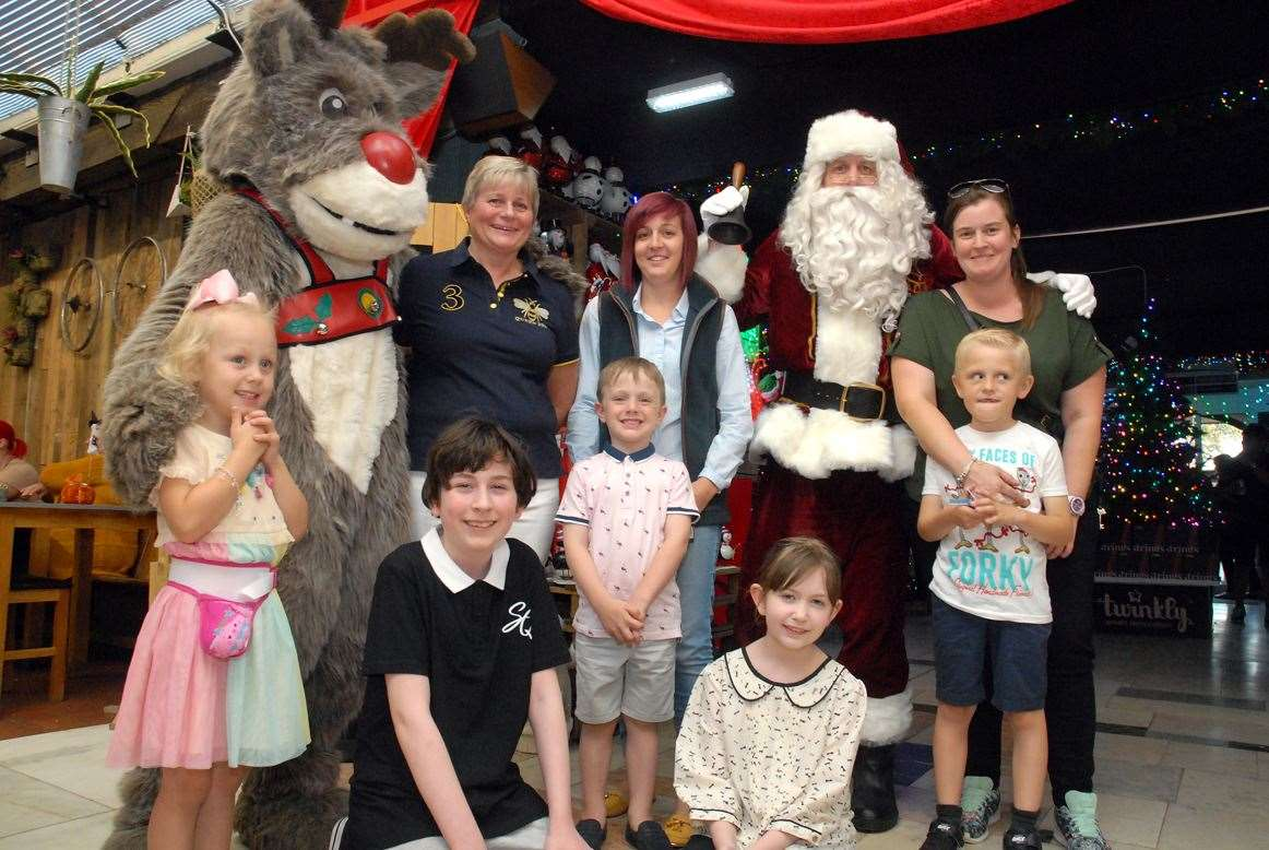 Santa Claus and Rudolph welcome visitors to Baytree Garden Centre's Christmas 'Grand Reveal'.hoto by Tim Wilson.SG-190919-086TW