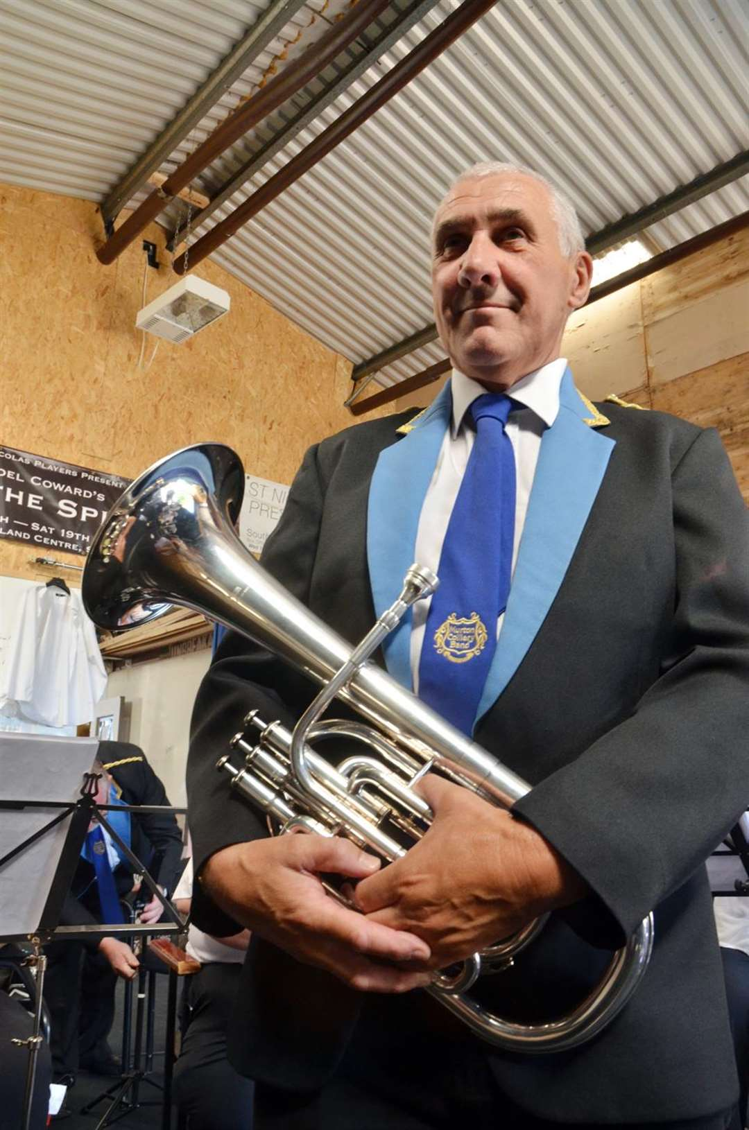 Musical director for Brassed Off, Tony Fell. Photo by Tim Wilson. 050818111SG