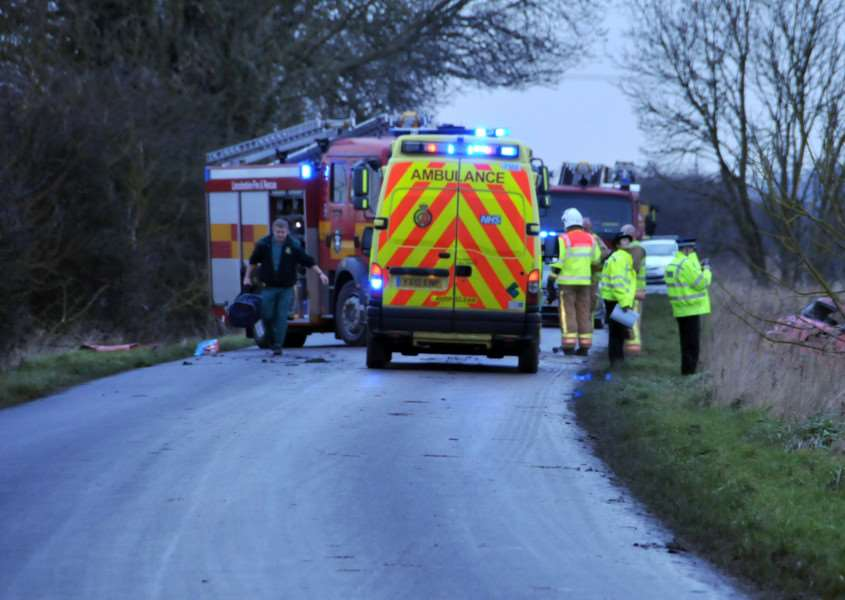 "NO ACCESS: Cowbit farmer Roland Biggs has called for Mill Drove North, the scene of several crashes in recent years, to be ""blocked off"" as a short cut across the A16. Photo: SG080213-444NG."