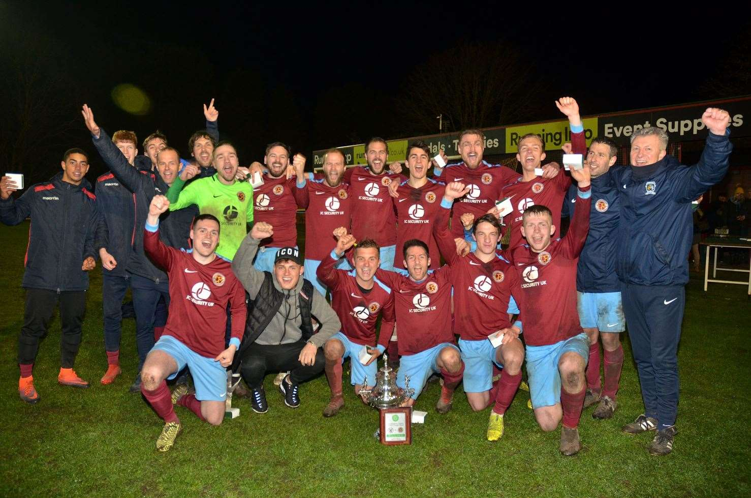 Lincolnshire FA Senior Trophy winners Deeping Rangers