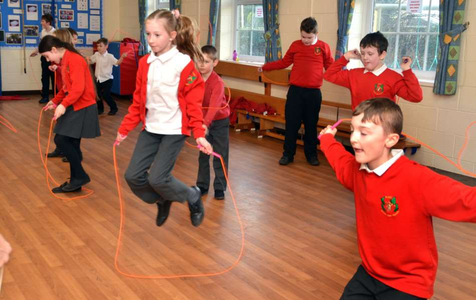 Skipping session at Fleet Wood Lane Primary School, Holbeach