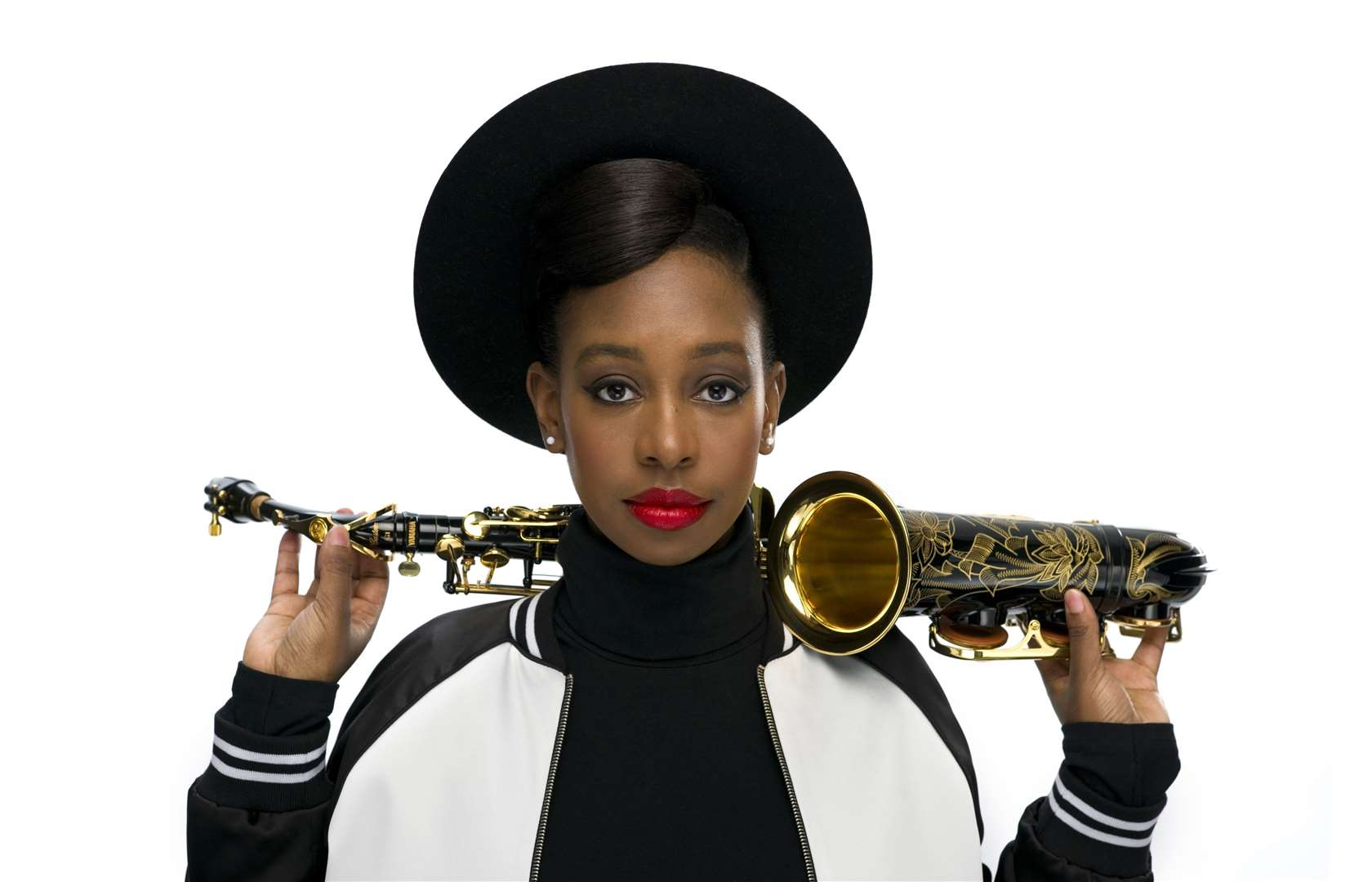 Award-winning saxophonist Yolanda Brown plays at the South Holland Centre in Spalding on Friday.