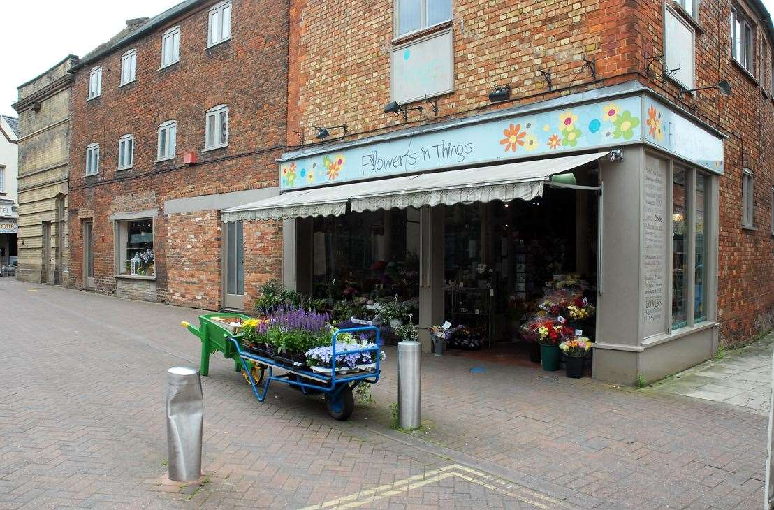 The rooms are located above Flowers 'n' Things in Red Lion Street, Spalding