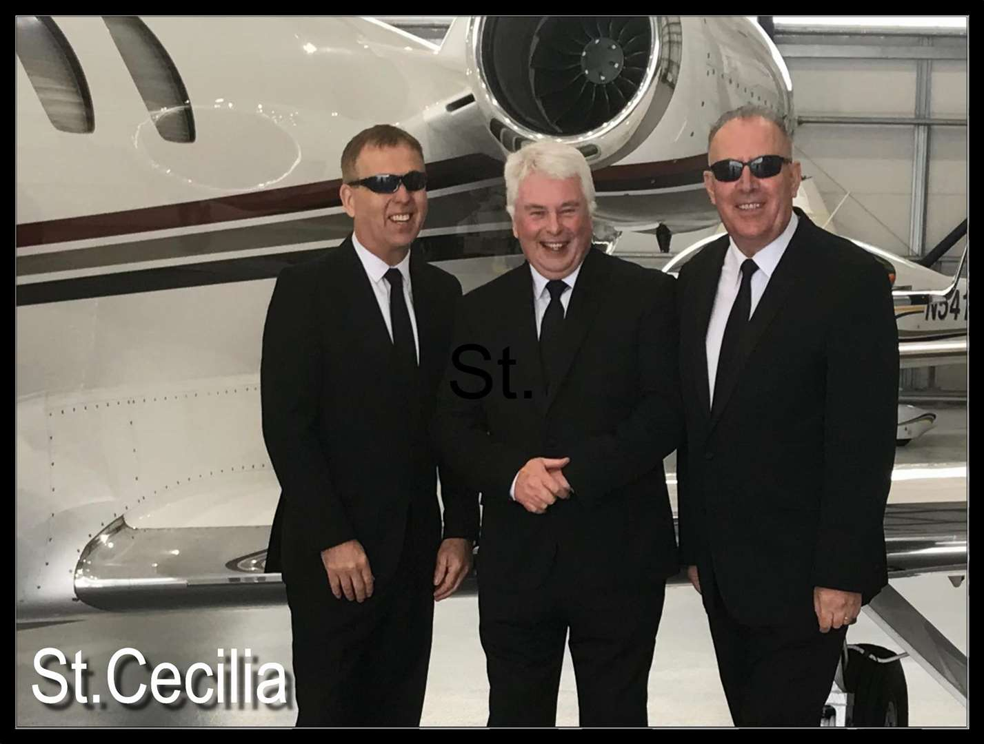 St Cecilia today. Eamonn Carr (far right), Nigel Wood and Tony Barry. (6703073)