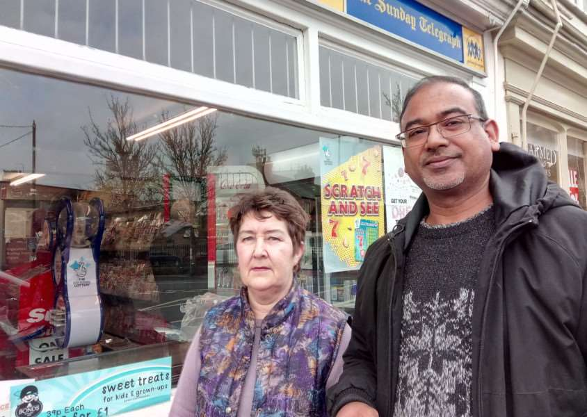 Classic News boss Asgar Vanparekh and member of staff Susan Waltham have been left reeling by another burglary.