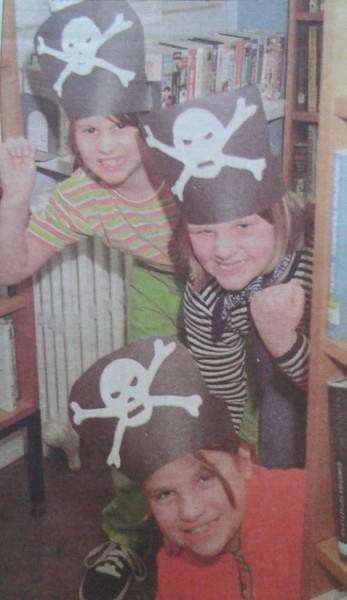 Youngsters enjoy a pirate activity day at Long Sutton library in 2000.