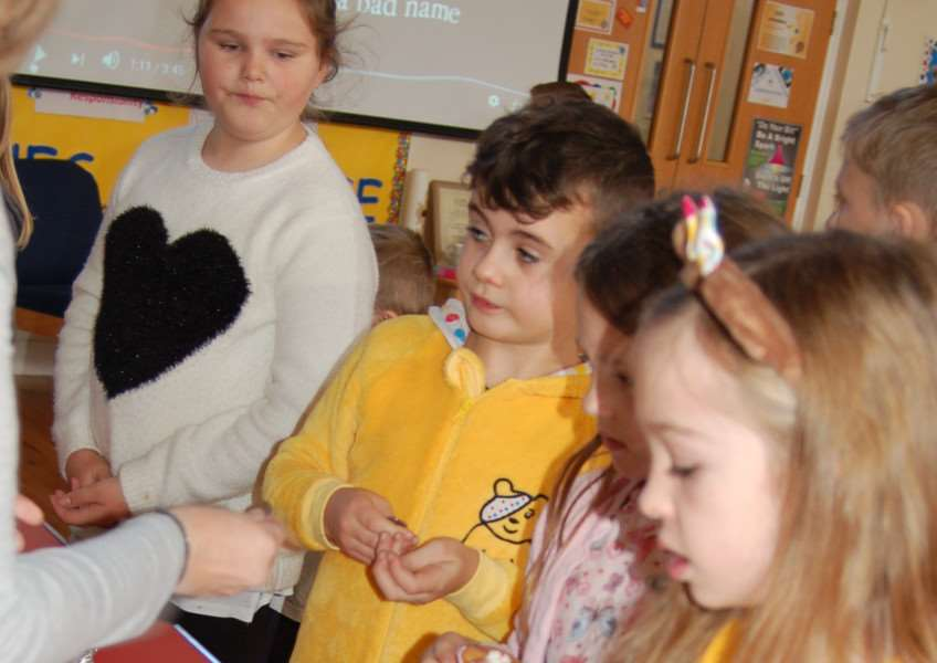 Children In Need fundraising at Tydd St Mary Primary School