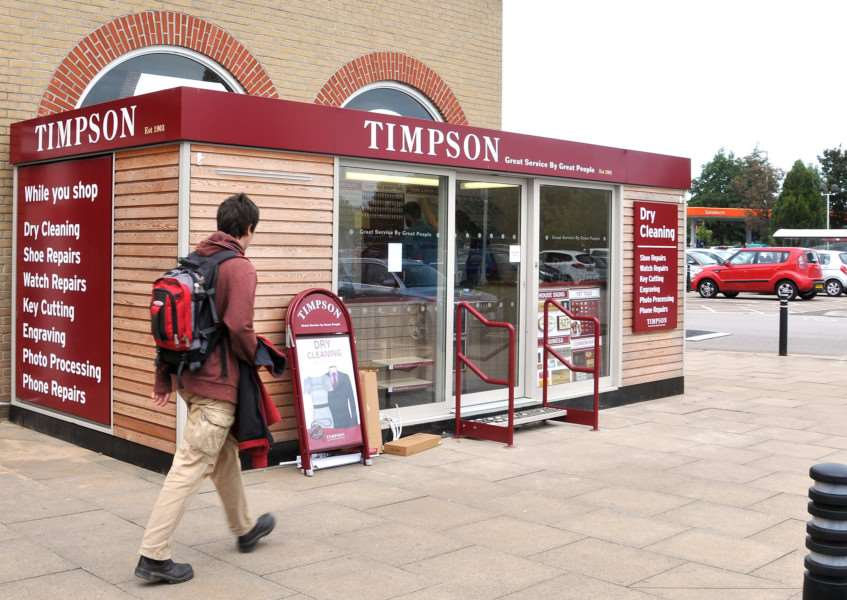 The Timpson Pod that opened at Sainsbury's in September. SG060917-811TW