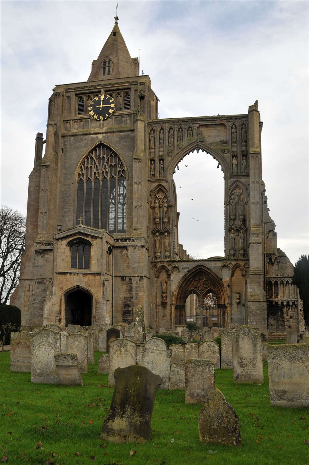 Crowland Abbey suffered nearly £132,000 worth of damage when seven of the windows at the grade I-listed building were smashed during disorder in May 2018.