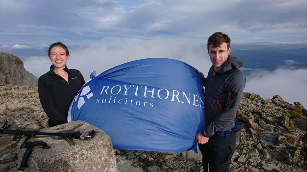 Roythornes employment solicitor Laura Hill and trainee solicitor Alex Wensor.