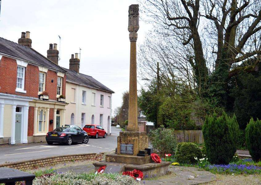 Gosberton War Memorial will be cleaned in time for the 100th anniversary of the end of WWI. Photo (TIM WILSON): SG170418-111TW