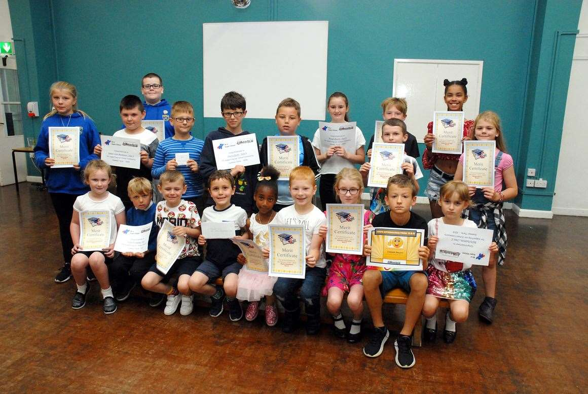 Prizewinners at the end of term achievers' party