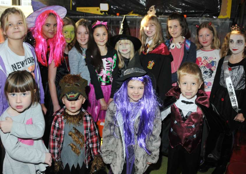Youngsters at the official opening of Crowland Community Hub' for Halloween, October 2015. Photo by Tim Wilson. SG311015-143TW.