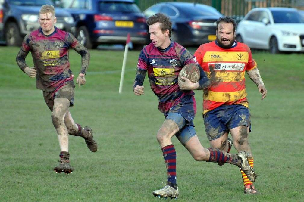 Gav Sharman (right) was one of Spalding's try scorers against Stockwood Park on Saturday.Photo: SG-290220-039TW.