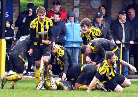 Celebrations for Holbeach United