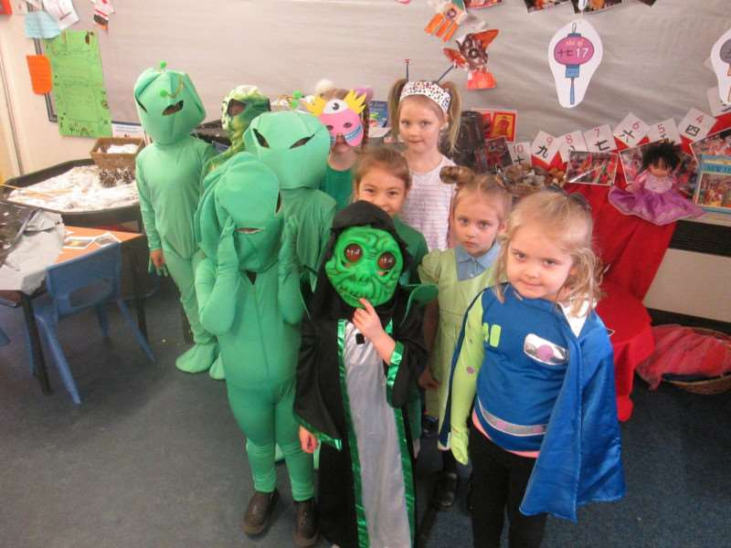 Dress-up day at Surfleet Primary School