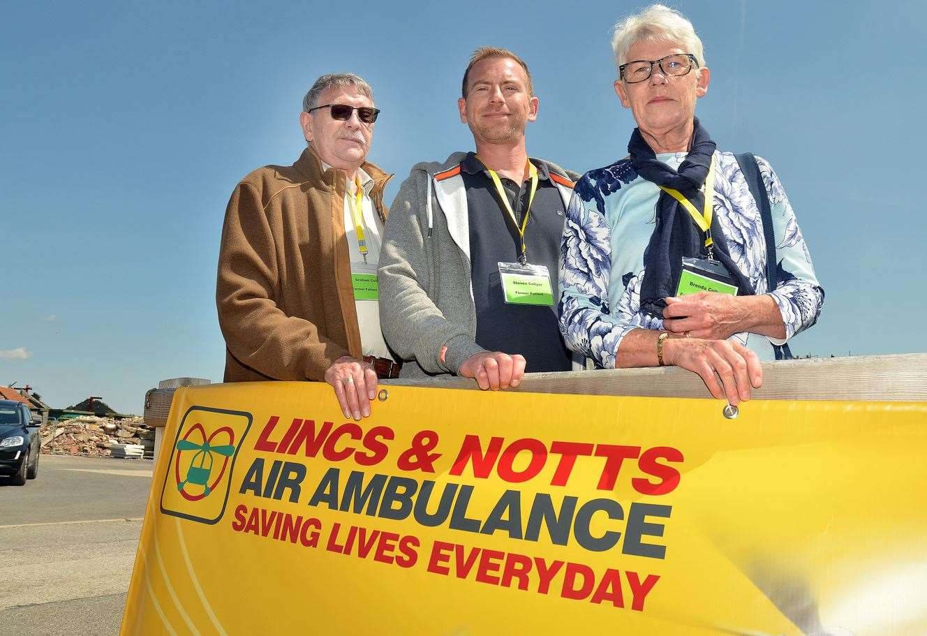 Former air ambulance patient Steven Collyer (centre), with his mum Brenda and dad Graham. (10230494)