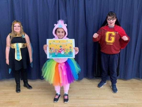 Holbeach pupils in their weird and wacky outfits for Children's Mental Health Week (44348295)