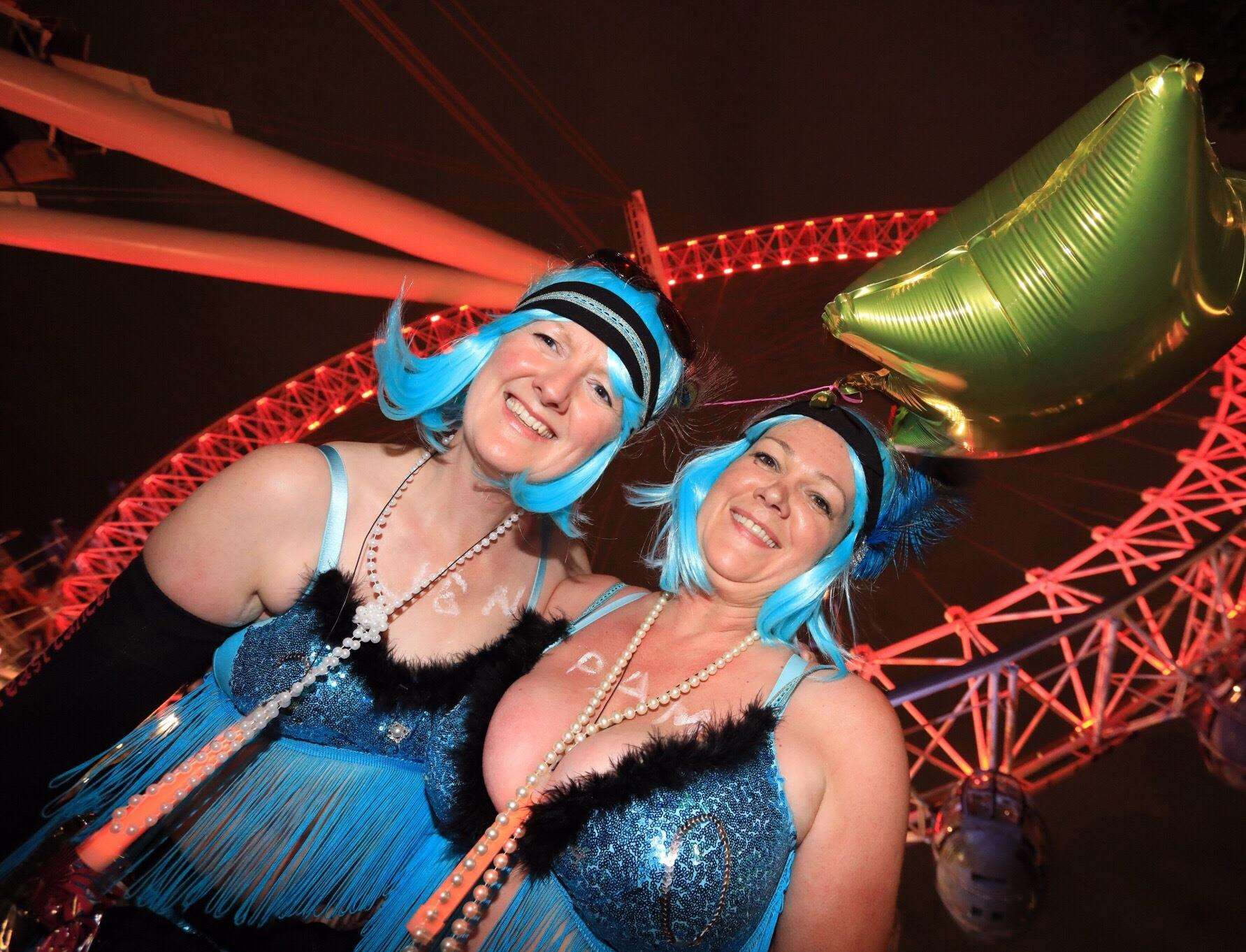 Jenny Darroch and Pam Thompson at London MoonWalk 2017. Photo supplied. (2452145)