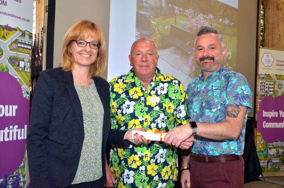 East Midlands in Bloom Awards Presentation, Holbeach presented by Alison Fox - Graham Rudkin, Stephen Johnson