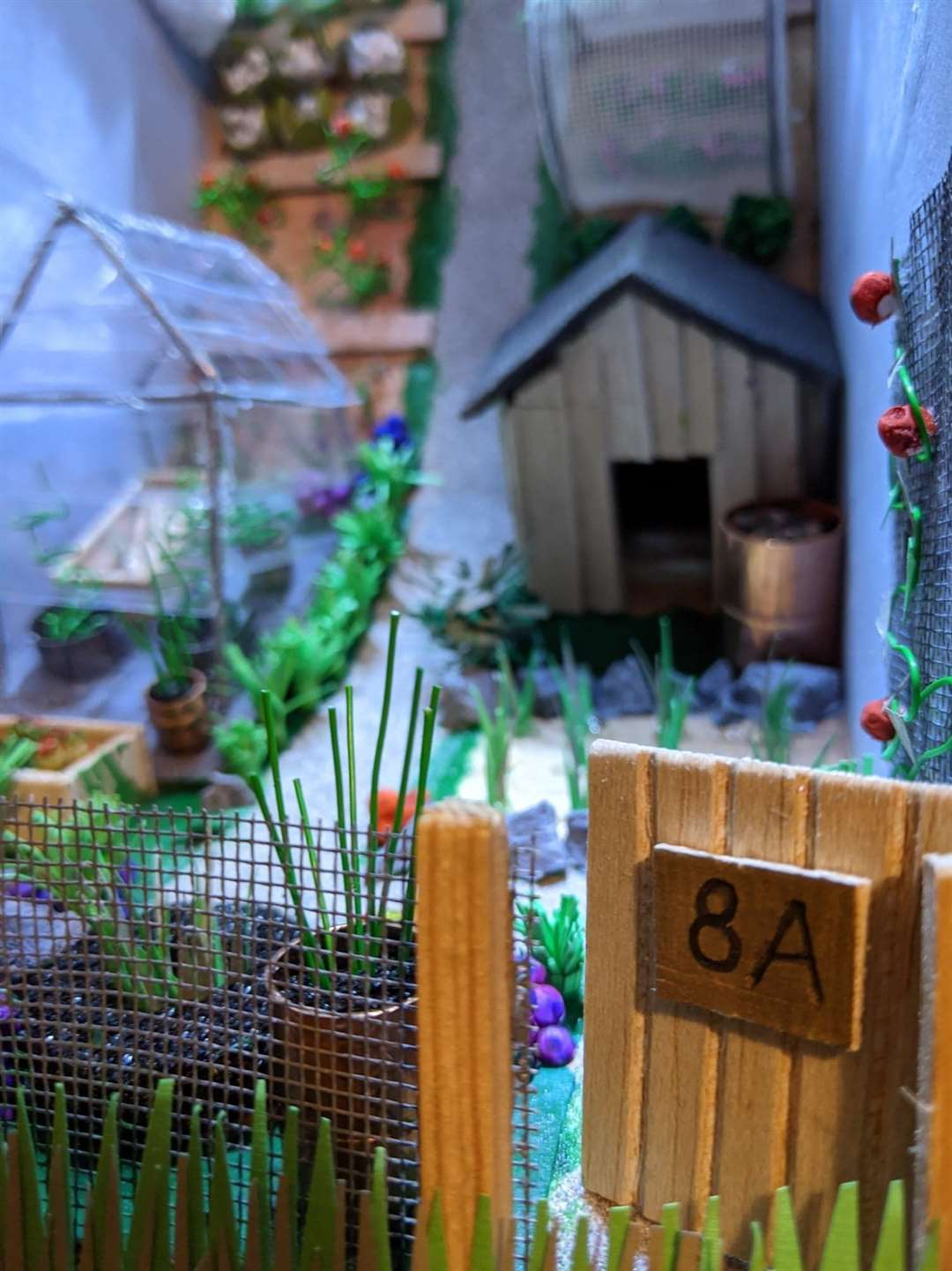The allotment book nook, created by Laura Mabbutt, based on her own allotment. (44073956)