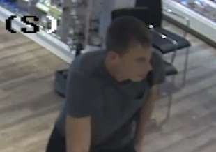 Lincolnshire Police has released this CCTV image of a man they want to speak to in connection with the theft of a box of perfume from Lloyds Pharmacy in Spalding over the August Bank Holiday weekend.