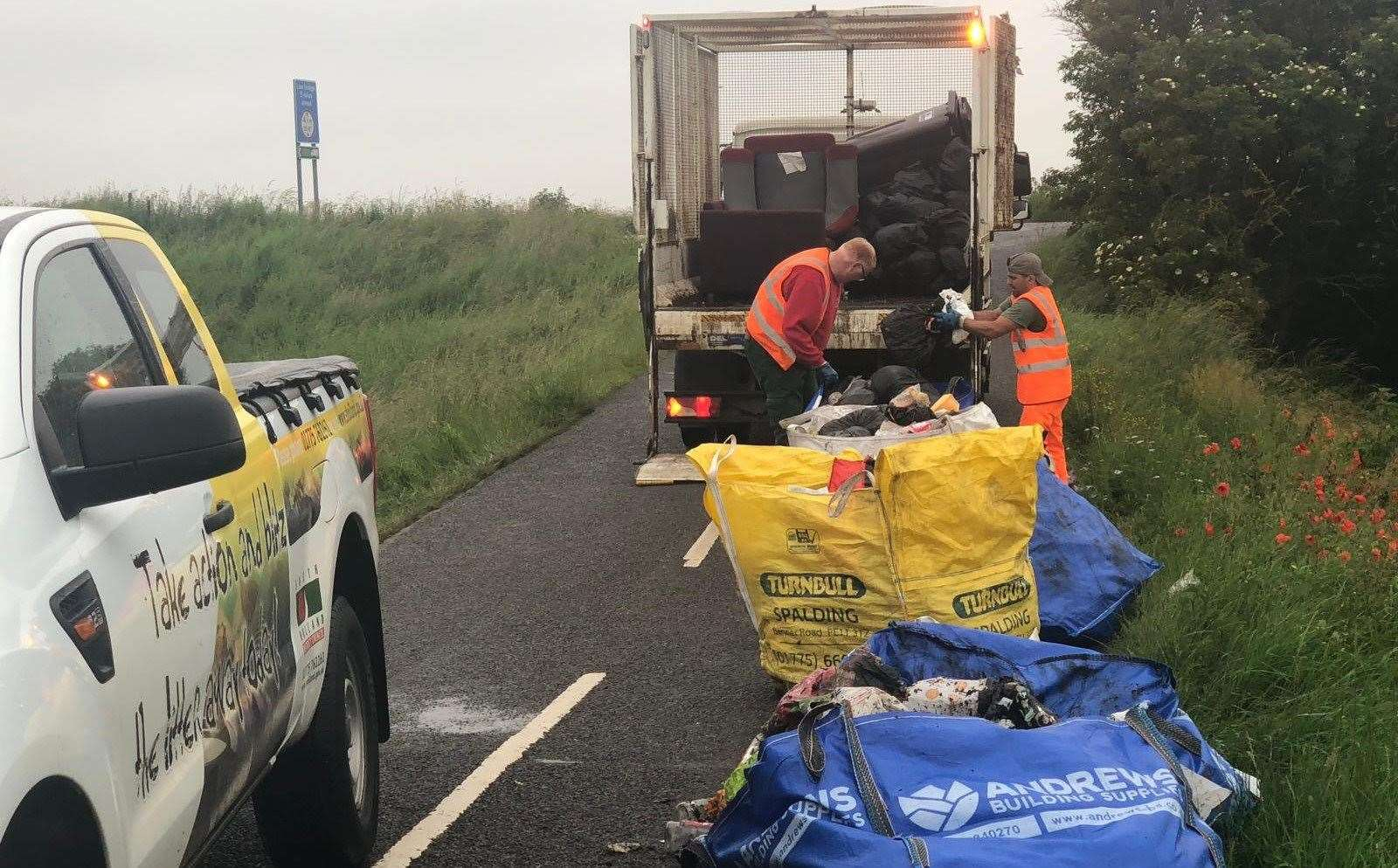 South Holland District Council Waste team clears up fly-tipping (26978603)