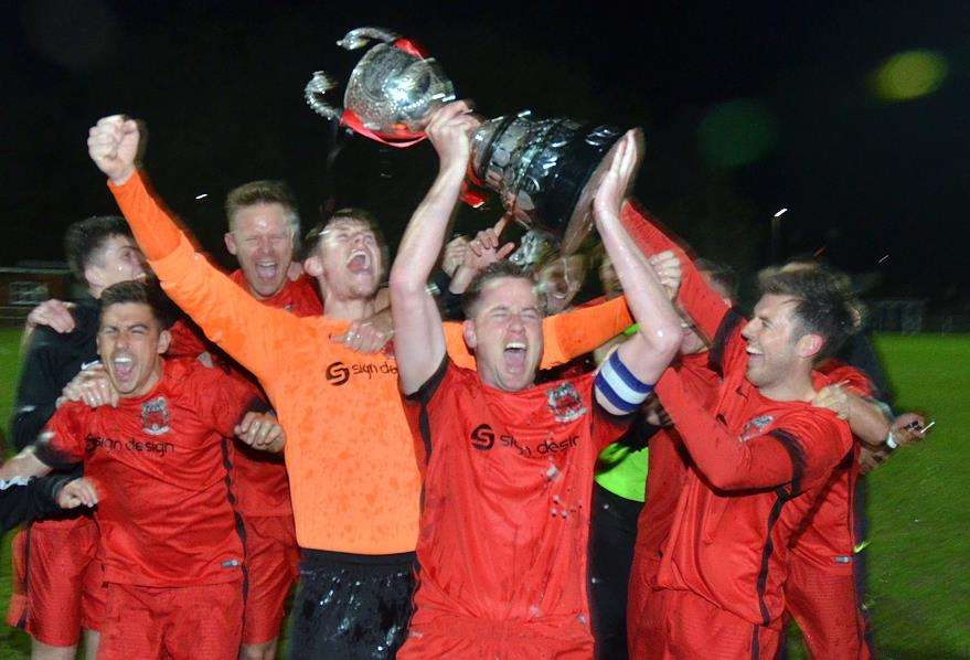 Pinchbeck United were crowned United Counties League Division One champions in April 2018. Photo by Tim Wilson.