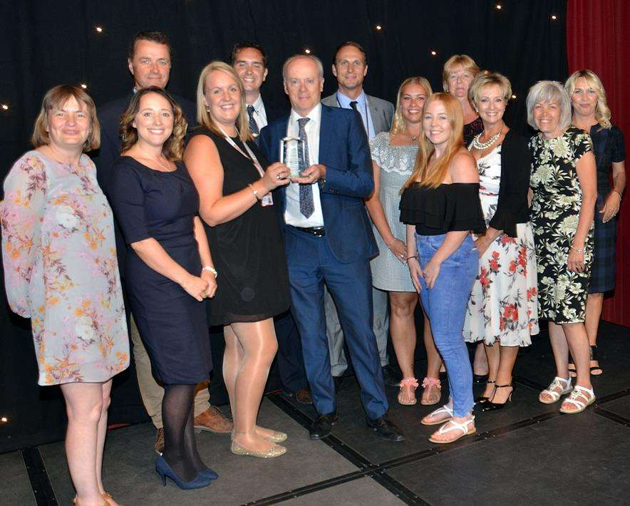 Students and staff from Spalding Academy, Lincolnshire Free Press and Spalding Guardian Secondary of the Year 2018. Photo by Tim Wilson. 050718148SG.