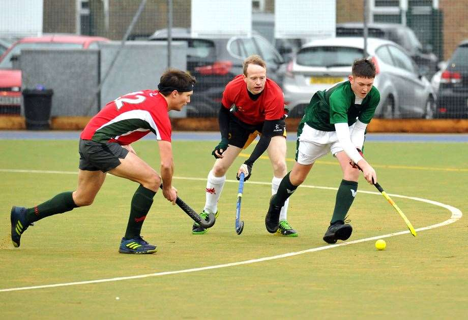 Will Taylor in action for Long Sutton men's 1sts in his side's previous home game against Norwich Dragons 1sts.Photo: SG-150220-014TW.