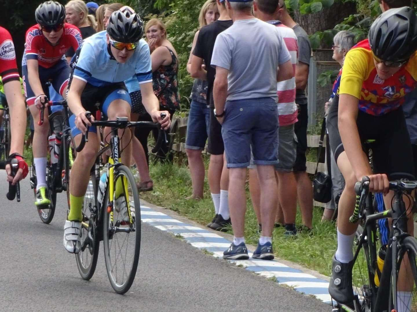 Tom Wright flying the flag at the National Youth Circuit race