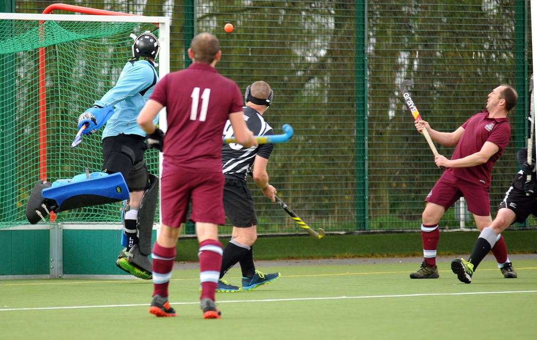 Glenn Perkins and Steve Rogers (right) in action for Spalding 2nds during their 4-0 win against Leadenham 1sts at Glen Park, Surfleet.Photo (TIM WILSON): SG-140320-059TW.