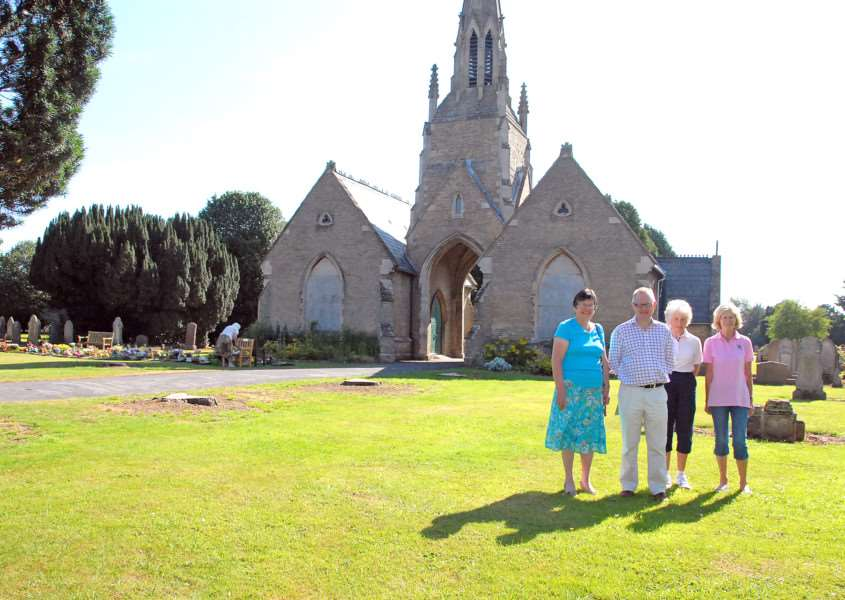 Holbeach Cemetery Chapel Trustees Gill Graper, Chris Penney, Trish Bryant and Jenny Worth are among the team working to save the historic buildings. SG260713-119TW