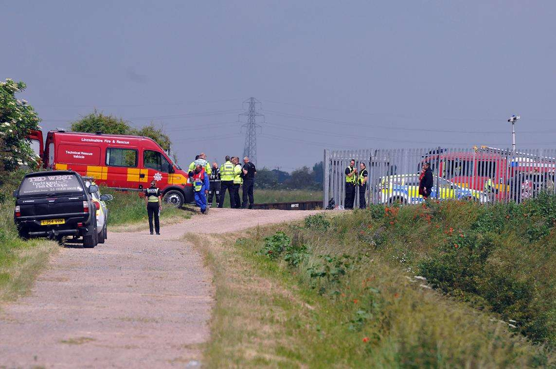 Emergency services search Welland river bank near Moulton Marsh nature reserve (2532210)