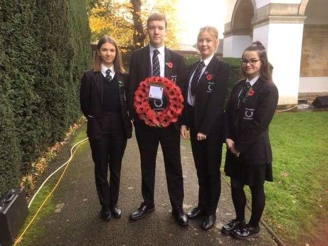 Members of Spalding Academy Prefects Scheme laid a wreath on Sunday. (21537509)