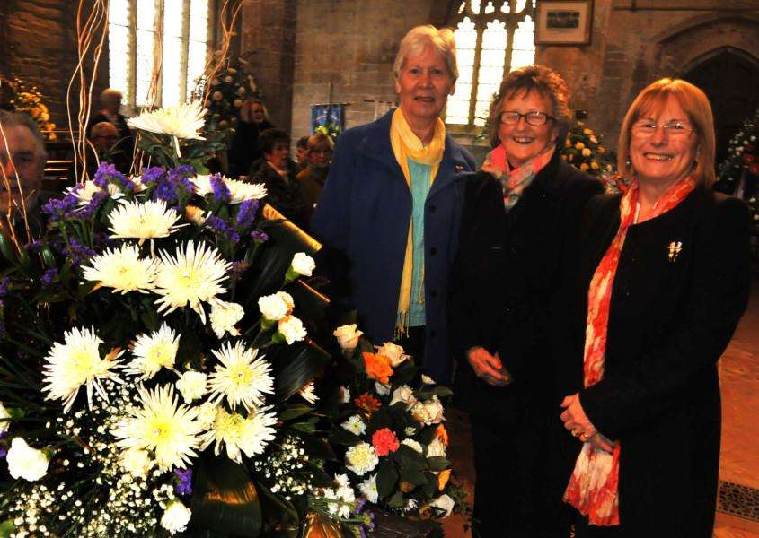 Flower arrangers at a previous flower festival at Donington's church. Photo: (TIM WILSON) SG220416-252TW