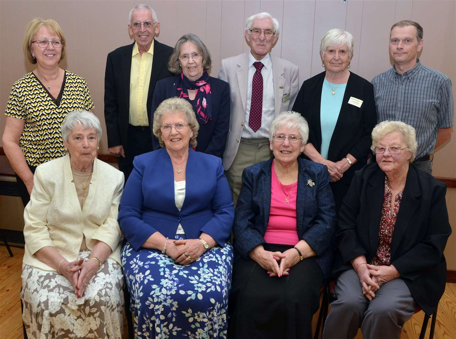 Crowland Cancer Fund committe members (back) Marian Keene, Paul Przyszlak, Barbara Balding, Mike Jackson, June Wortley, Paul Spicer, (front) chairman Val Capes, Eileen Garbutt, Libby Jackson and Pat Woodroffe. Photo by Tim Wilson. SG310317-201TW. (2285141)