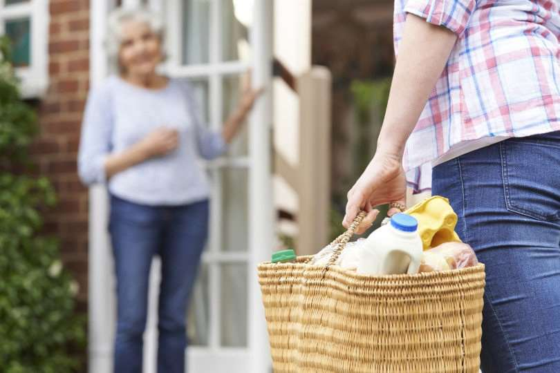 You can help by offering to do some shopping for an elderly neighbour