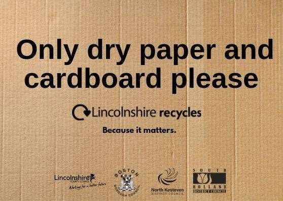 Over 7,500 homes in Boston, South Holland and North Kesteven will take part in a separate paper and cardboard collection trial this autumn.Photo supplied by Lincolnshire County Council. (14781032)