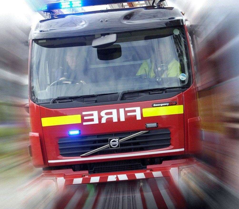 Firefighters were called to a crash at Bicker this morning