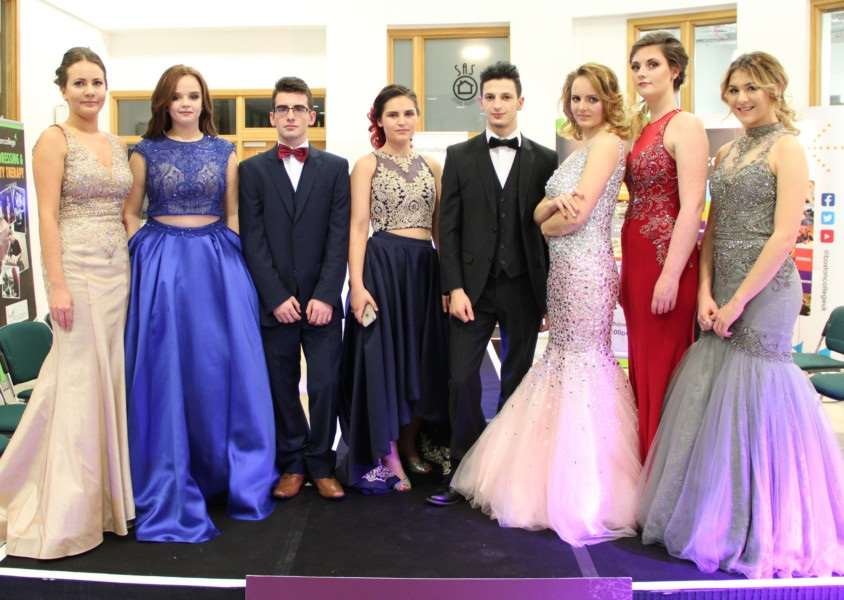 Models at the prom event