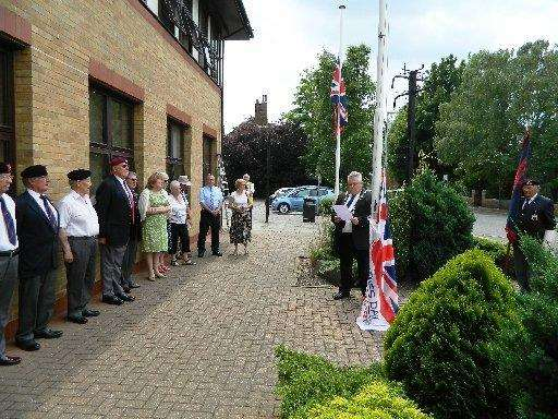 The Armed Forces Flag raising ceremony at the council offices in Spalding last year. (2020239)