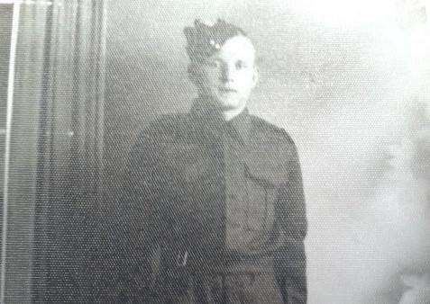 Mike Chapman's dad Stanley Chapman, who was a prisoner of war in World War II. He is aged around 21 here, when he was called up to the Army.