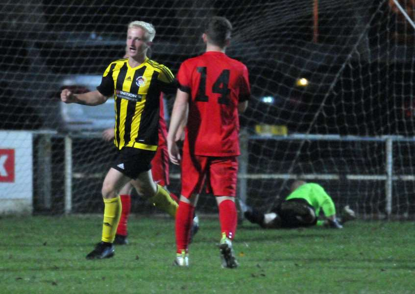 Jordan Keeble also scored in the previous round against Pinchbeck
